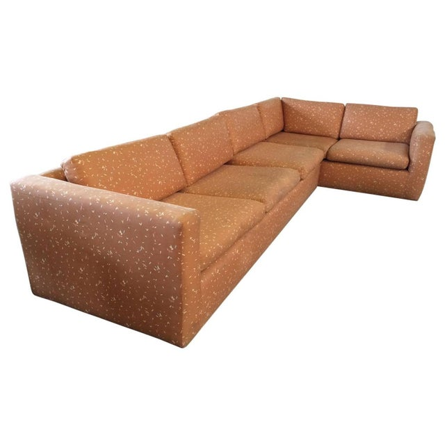 Milo Baughman Large Sectional Sofa with Pullout - Image 1 of 8