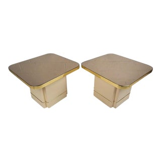 Hollywood Regency Mirrored End Tables - a Pair For Sale