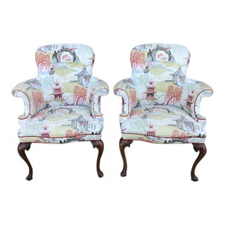 1970s Vintage Wingback Chairs- A Pair For Sale