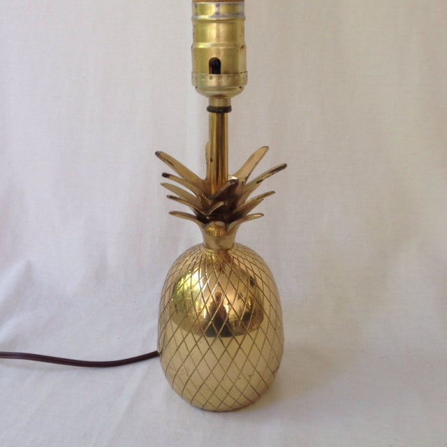 Brass Pineapple Lamp For Sale - Image 5 of 5