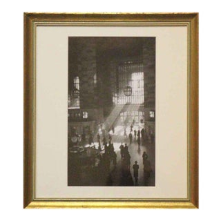 George Daniell Grand Central Station Reprint Photo Signed For Sale