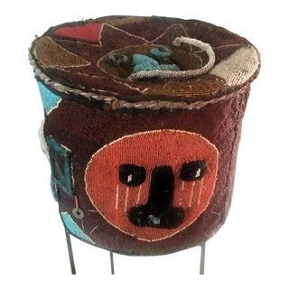 Beaded Tribal Basket