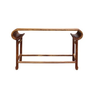 Chinese Light Brown Rosewood Entryway Console Foyer Altar Table For Sale