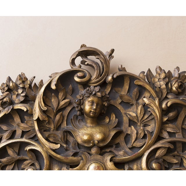 Carved Wood Mirror With Gilt Finish - Image 4 of 8