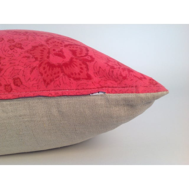 Vintage Block Printed Kantha Pillows - A Pair For Sale - Image 4 of 4