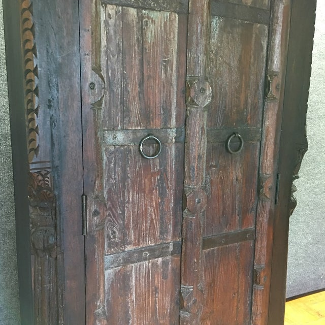 Handcrafted Tall Wooden Armoire by Buena Vista - Image 7 of 11