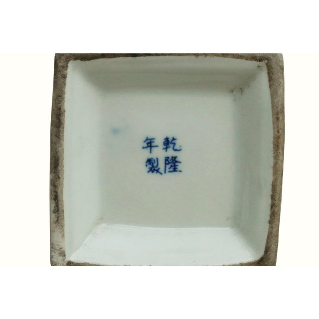 Chinoiserie Blue & White Ceramic Pagoda Jars - a Pair For Sale In Boston - Image 6 of 7