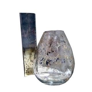 Mercury Glass Vases- Pair