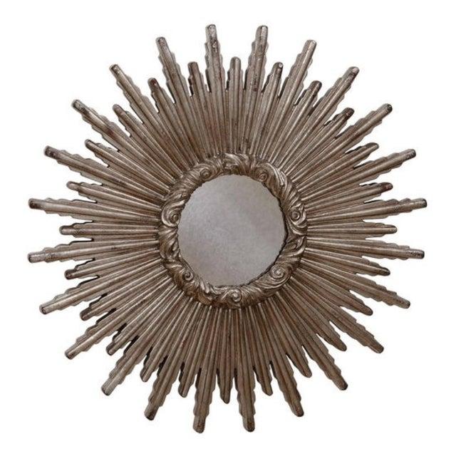 Large Silver Sunburst Mirror For Sale - Image 9 of 9