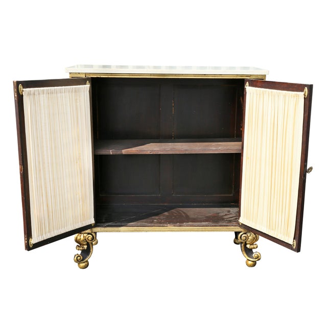Regency Style Rosewood and Gilded Credenza For Sale - Image 4 of 11