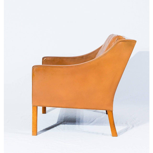 Contemporary Børge Mogensen Model No. 2207 Leather Lounge Chair For Sale - Image 3 of 9