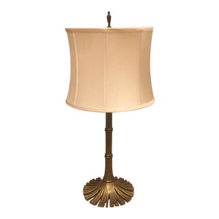 Vintage Brass Bamboo Design Lamp For Sale