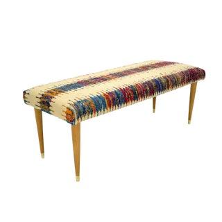 "Abby Sari Silk & Wool Kilim 48"" Bench For Sale"