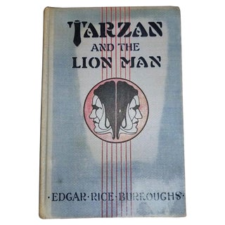 """Tarzan and the Lion Man"" 1st Edition Book by Edgar Rice Burroughs For Sale"