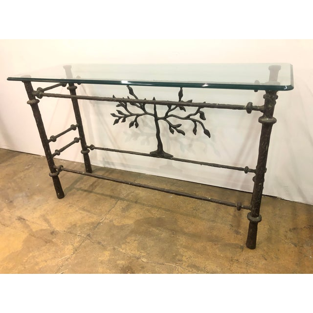 Brutalist Giacometti Style Studio Made Console Table For Sale - Image 3 of 7