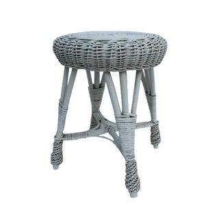 Vintage Round Rattan Stool