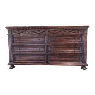 Hooker Seven Seas 8 Drawer Distressed Dresser For Sale