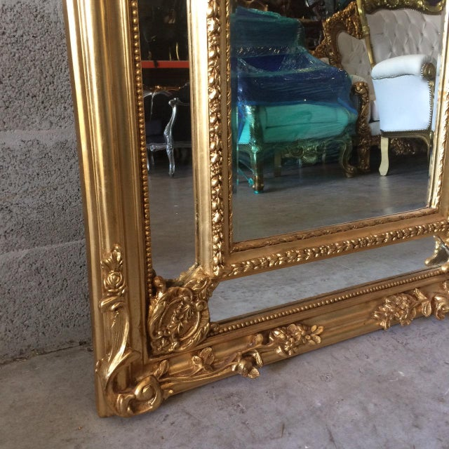 French Louis XVI Floor Mirror For Sale - Image 4 of 7
