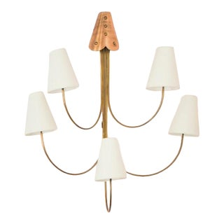 Antique Brass Wall Sconce For Sale