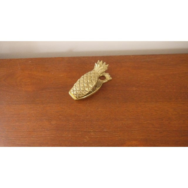 Hollywood Regency Brass Pineapple Paperclip - Image 2 of 4