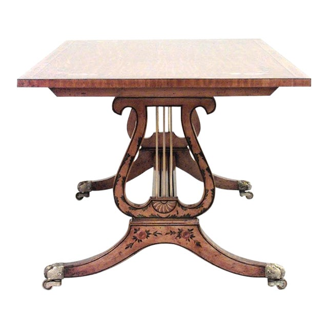 English Hepplewhite Style Coffee Table For Sale