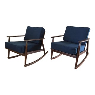 Mid Century Modern Baumritter Rocking Chairs- A Pair For Sale