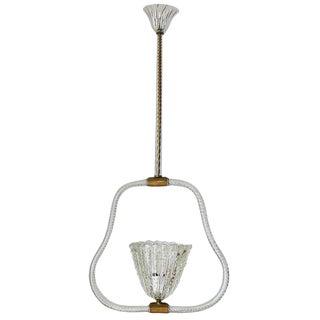Pulegoso Pendant by Ercole Barovier For Sale