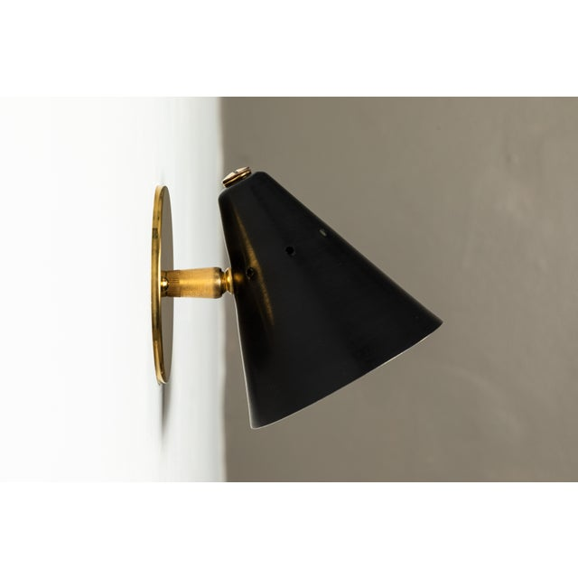 1950s Italian Perforated Cone Sconce in the Manner of Arteluce For Sale - Image 10 of 12