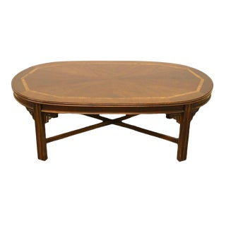 Late 20th Century Vintage Lane Furniture Bookmatched Walnut Coffee Table For Sale