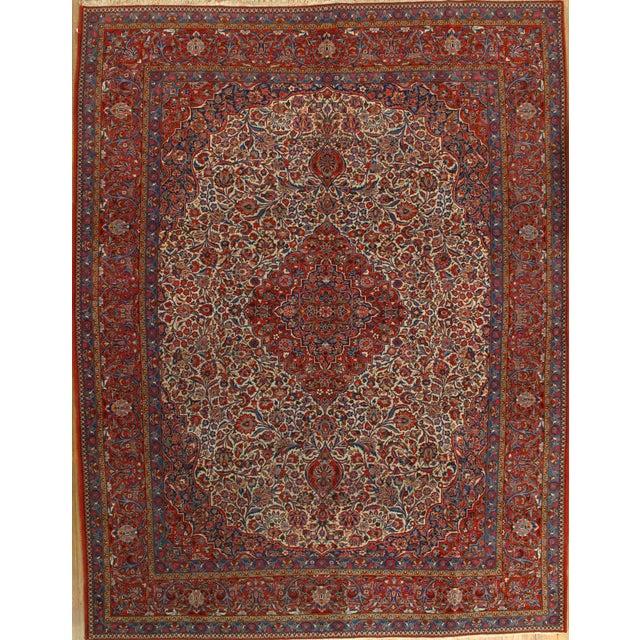 "Antique Persian Kashan Rug - 8'11"" X 11'7"" - Image 1 of 4"