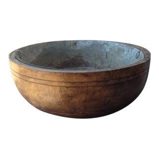 Antique Wooden Bowl For Sale