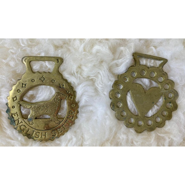 Antique Horse Brass Christmas Ornaments - Set of 12 For Sale - Image 4 of 8