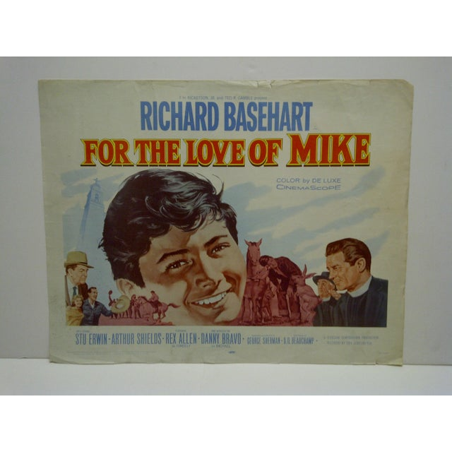 """American 1960s Vintage Movie Poster """"For the Love of Mike"""" by Richard Basehart For Sale - Image 3 of 5"""