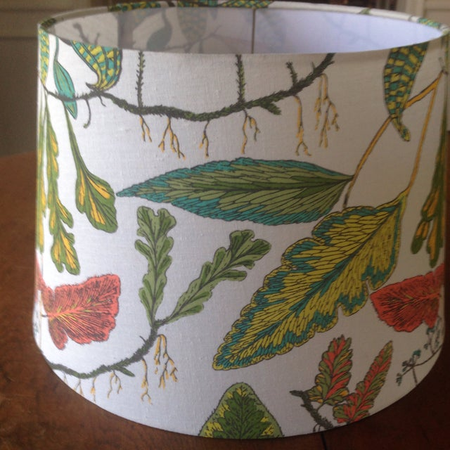 Vintage Botanical Print Lamp Shade For Sale - Image 5 of 11