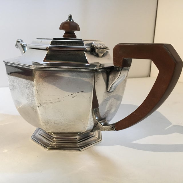 1930s Sheffield London Silver Teapot For Sale - Image 5 of 11