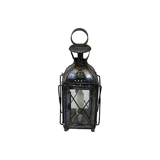 1880s Antique Tin Candle Lantern For Sale In Boston - Image 6 of 6