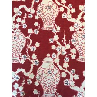 Cachepot Cotton Slub Hyacinth Fabric 14 Continuous Yards For Sale
