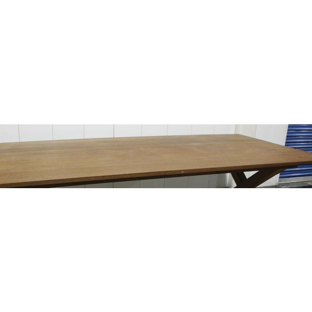 Custom X Base Mahogany Dining Table For Sale - Image 12 of 12