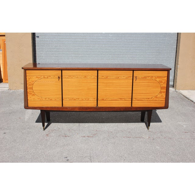 1940s 1940s French Art Deco Mahogany Sideboard For Sale - Image 5 of 13