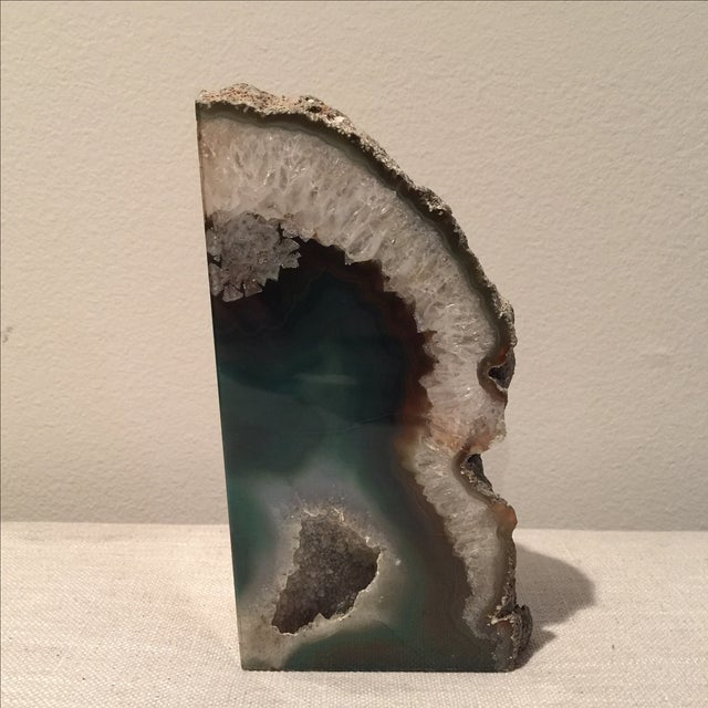 Emerald Green Agate Bookend - Image 2 of 7