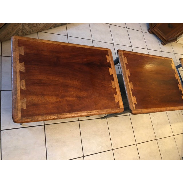 1900s Mid-Century Modern Lane Acclaim Dovetail Coffee and Side Tables - 3 Piece Set For Sale In Houston - Image 6 of 13
