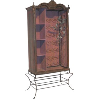Vintage Armoire Converted Into a Wine Cabinet For Sale