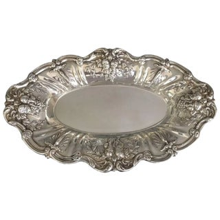 Vintage Mid-Century Reed and Barton Francis I Sterling Silver Bread Tray X568 For Sale