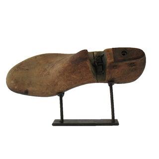 Vintage Cobbler Shoe Mold on Stand For Sale