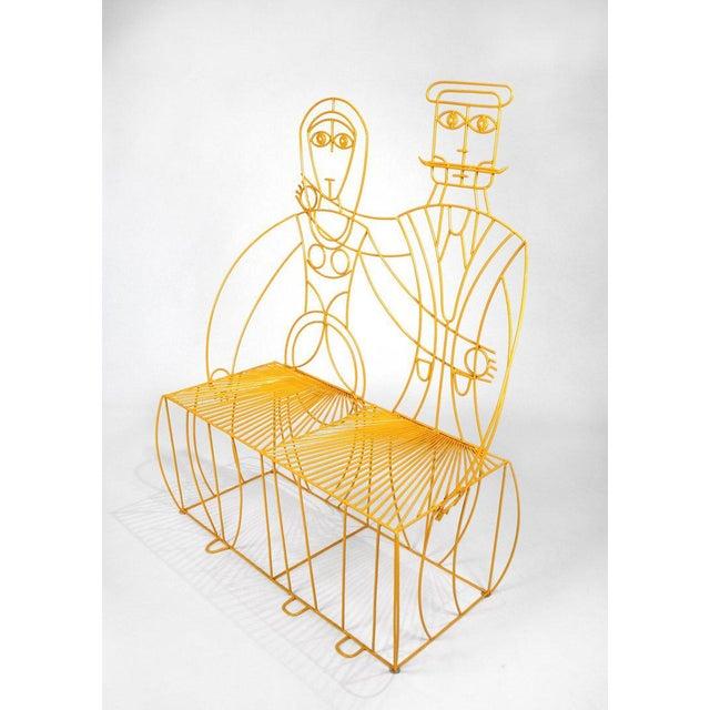 Orange John Risley Monsieur & Mademoiselle Patio Bench Sculpture For Sale - Image 8 of 8