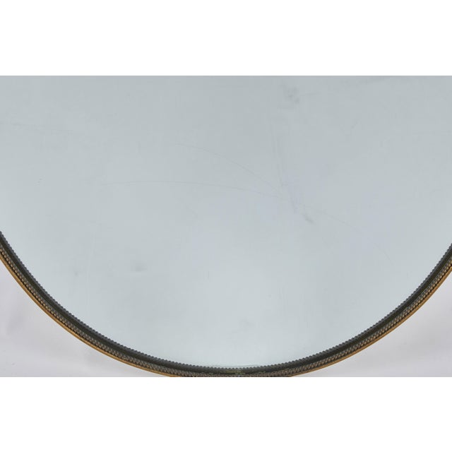 Mid 20th Century Italian Brass Shield Mirror For Sale In Los Angeles - Image 6 of 7