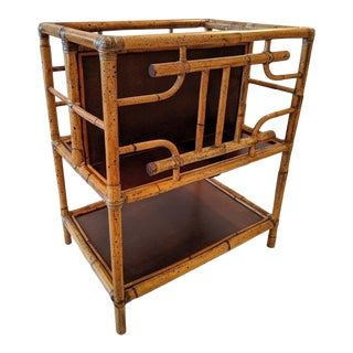Selamat Designs / San Francisco, Ca, Bamboo Magazine Rack, Made in Indonesia For Sale