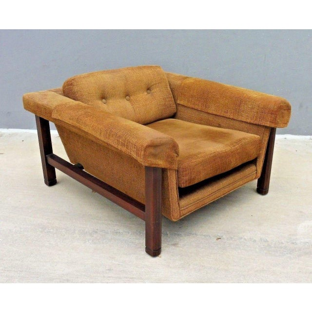 Brown 1960's Mid Century Modern Low Slung Lounge Chair For Sale - Image 8 of 8