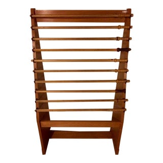 Antique Library Style Wooden Rack