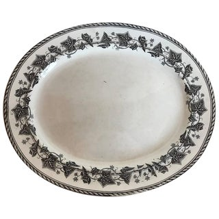 19th Century French H & B Ivy Transferware Plate For Sale